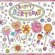 Салфетки за декупаж - Happy Birthday - Пакет от 20 броя