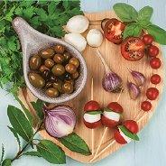Салфетки за декупаж - Маслини и зеленчуци - Пакет от 20 броя
