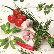 Салфетки за декупаж - Зеленчуци - Пакет от 20 броя