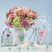 Салфетки за декупаж - Цветя и птици - Пакет от 20 броя