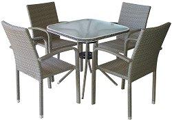 Комплект градински мебели - 59-4125A - Имитация на ратан