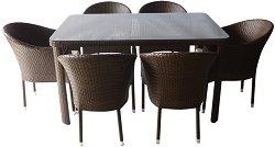 Комплект градински мебели - 350-341-2 - Имитация на ратан