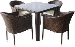 Комплект градински мебели - 350-341-1 - Имитация на ратан