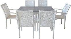 Комплект градински мебели - 59-2-45-2 - Имитация на ратан