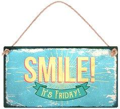 Табелка - поздравителна картичка Smile! It's Friday -