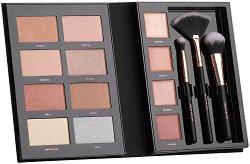 """Profusion Cosmetics Pro Highlight - Палитра хайлайтъри за лице с четки от серията """"Beauty Books"""" - спирала"""