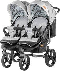 Бебешка количка за близнаци - Twix 2018 - С 4 колела -