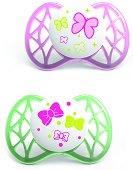 Силиконови залъгалки - Air55 - Комплект от 2 броя за бебета от 0+ месеца -