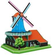 Вятърна мелница - 3D пъзел - пъзел