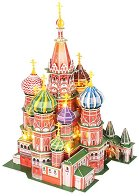 Катедралата - Св. Василий, Москва - Светещ 3D пъзел - пъзел