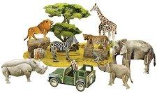 """Дивият свят на Африка - 3D пъзел от колекцията """"National Geographic Kids"""" - пъзел"""
