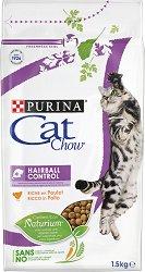 Cat Chow Hairball Control Adult with Chicken - Суха храна с пилешко месо против образуване на космени топки за котки на възраст над 1 година - чували от 1.5 kg и 15 kg -