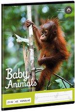Ученическа тетрадка - Орангутан : Формат А5 с широки редове - 32 листа -