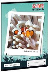 Ученическа тетрадка - Риба Клоун : Формат А5 с широки редове - 32 листа -
