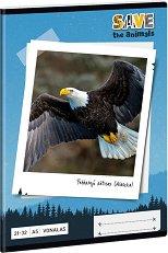 Ученическа тетрадка - Орел : Формат А5 с широки редове - 32 листа -