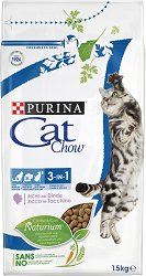 Cat Chow 3 in 1 Adult with Turkey - Суха храна с пуешко месо за котки на възраст над 1 година - чували от 1.5 kg и 15 kg -