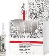 Design Look Professional Energy Care Lotion - Енергизиращи ампули за фина и слаба коса - 12 x 10 ml -