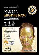 MBeauty Gold Foil Wrapping Mask - Маска за лице против бръчки със златно фолио - серум