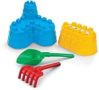 Комплект за игра с пясък - Крепост - играчка