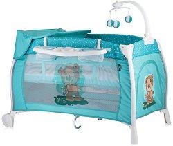 Сгъваемо бебешко легло на две нива - iLounge 2018 - С люлеещ механизъм -