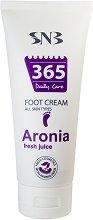 """SNB 365 Daily Care Aronia Fresh Juice Foot Cream - Крем за крака със сок от арония от серията """"365 Daily Care"""" - гел"""