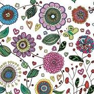Салфетки за декупаж - Рисувани цветя - Пакет от 20 броя