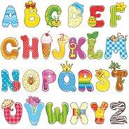 Салфетки за декупаж - Английска азбука - Пакет от 20 броя