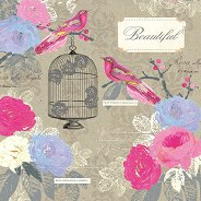 Салфетки за декупаж - Beautiful - Пакет от 20 броя