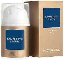 "Mondial Axolute Homme After Shave Gel - Успокояващ гел за след бръснене от серията ""Axolute"" - душ гел"