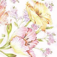 Салфетки за декупаж - Нежни цветя - Пакет от 20 броя