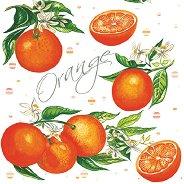 Салфетки за декупаж - Портокали - Пакет от 20 броя