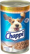 Chappi Can Poultry & Carrots Adult - Птиче месо и моркови за кучета в зряла възраст - консерва от 1.2 kg -