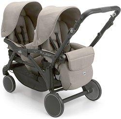 Комбинирана бебешка количка за близнаци - Twin Pulsar 2018 - С 4 колела -