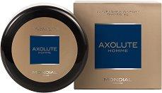 """Mondial Axolute Homme Luxury Shaving Cream Traditional - Луксозен твърд крем за бръснене от серията """"Axolute"""" - сапун"""