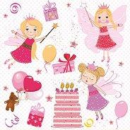 Салфетки за декупаж - Феи на рожден ден - Пакет от 20 броя