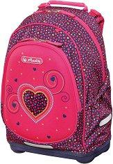 Ергономична ученическа раница - Bliss: Pink Hearts -