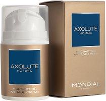 """Mondial Axolute Homme Multiaction Antiage Cream - Мултиактивен крем за мъже против бръчки от серията """"Axolute"""" - сапун"""
