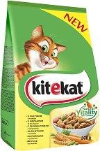 Kitekat Dry Chicken and Vegetables Adult - Суха храна с пилешко месо и зеленчуци за котки в зряла възраст - чували от 300 g ÷ 12 kg -