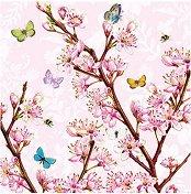 Салфетки за декупаж - Blossom Rose - Пакет от 20 броя