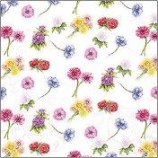 Салфетки за декупаж - Цветя - Пакет от 20 броя