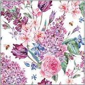 Салфетки за декупаж - Цветна композиция - Пакет от 20 броя