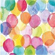 Салфетки за декупаж - Акварелни балони - Пакет от 20 броя