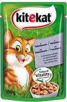 Kitekat Pouch Veal in Sauce - Телешко месо в сос за котки в зряла възраст - пауч 100 g -