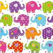 Салфетки за декупаж - Слончета