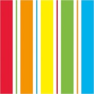 Салфетки за декупаж - Цветно райе - Пакет от 20 броя