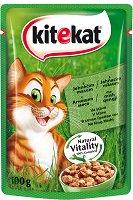 Kitekat Pouch Lamb in Gravy - Агнешко месо в сос грейви за котки в зряла възраст - пауч 100 g - продукт