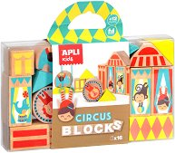 Дървени кубчета - Цирк - играчка