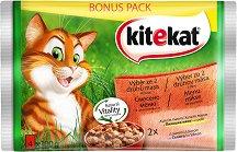 Kitekat Pouch Mix Menu in Gravy - Смесено меню в сос грейви за котки в зряла възраст - опаковка от 4 пауча x 100 g -