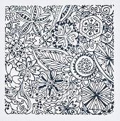 Гумен печат - Цветя - Размери 9 х 9 cm