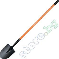 Права лопата със заострен връх - С дръжка